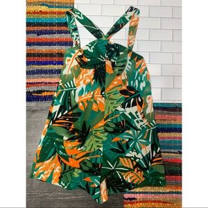 Zara Tropical Short Playsuit